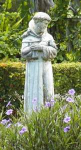 Statue of St. Francis in garden