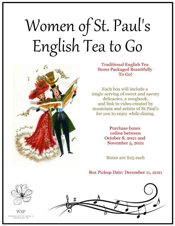 English Tea To Go Poster